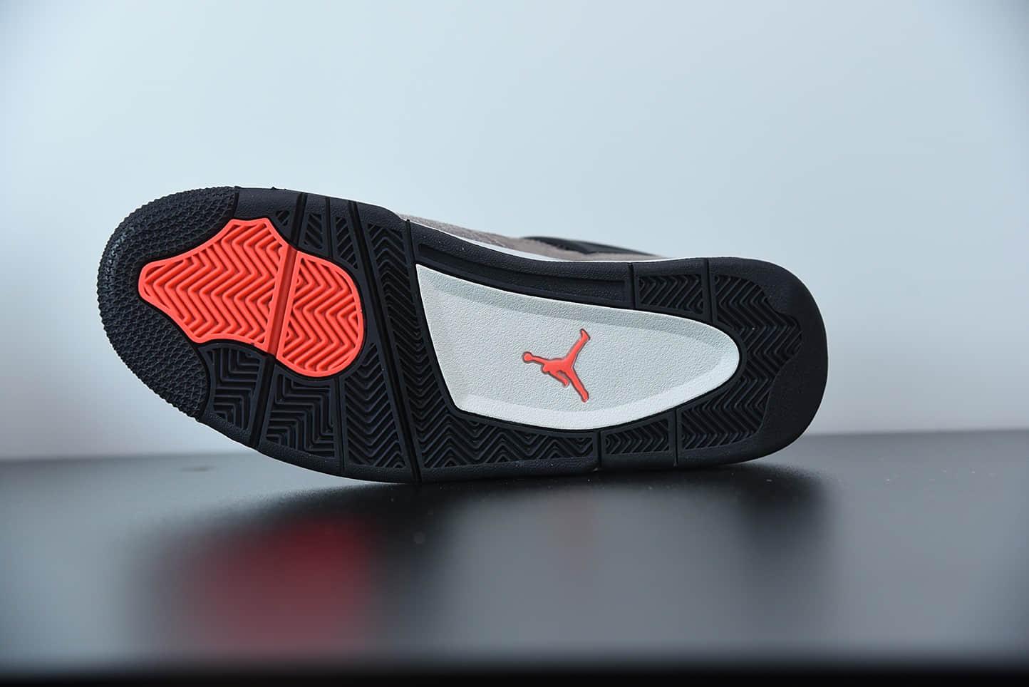 乔丹Air Jordan 4 RetroTaupe Haze麂皮摩卡黑棕小TS中帮复古休闲运动文化篮球鞋纯原版本 货号:DB0732-200