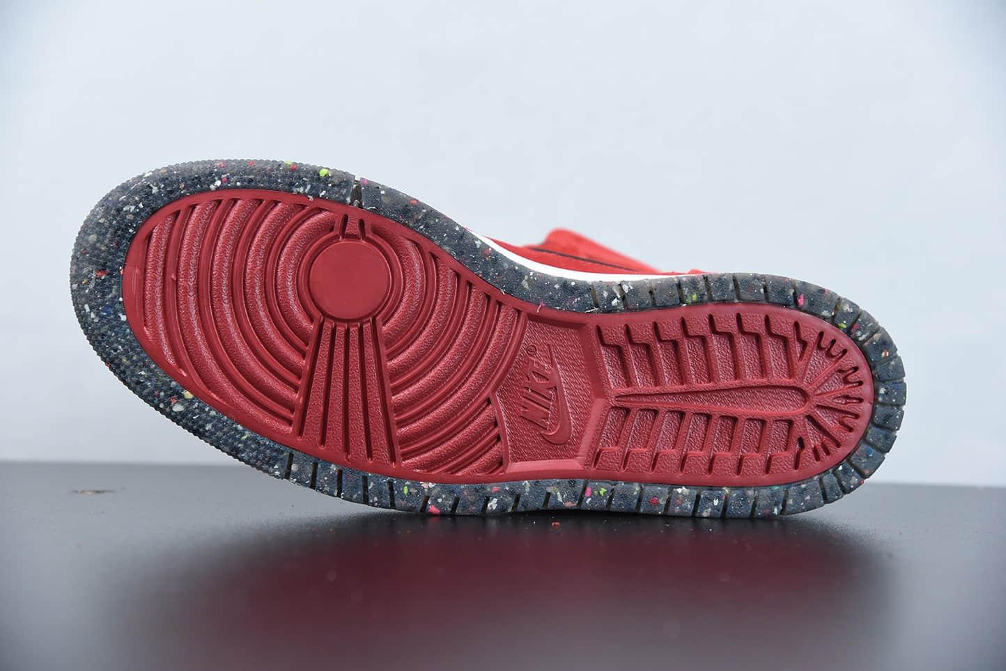 """乔丹Air Jordan 1 Zoom Air CMFT """"Crater Red""""中国红黑红高帮复古气垫板鞋纯原版本 货号:CT0978-600"""
