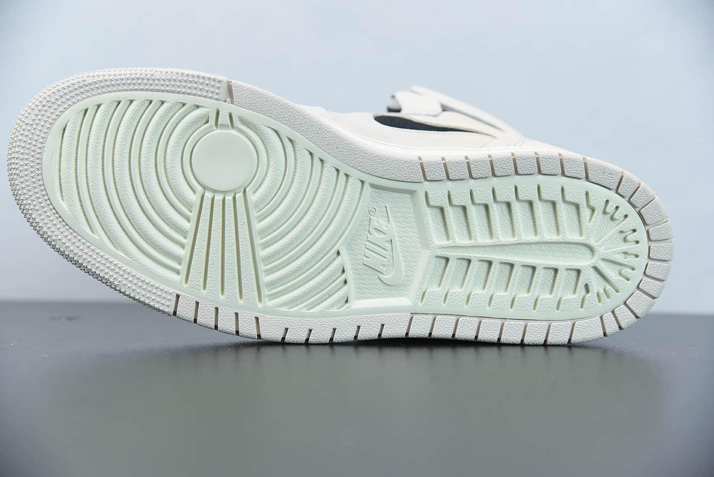 """乔丹Air Jordan 1 Zoom Air CMFT""""Summit White""""珍珠奶茶米白色高帮板鞋纯原版本 货号:CT0979-100"""