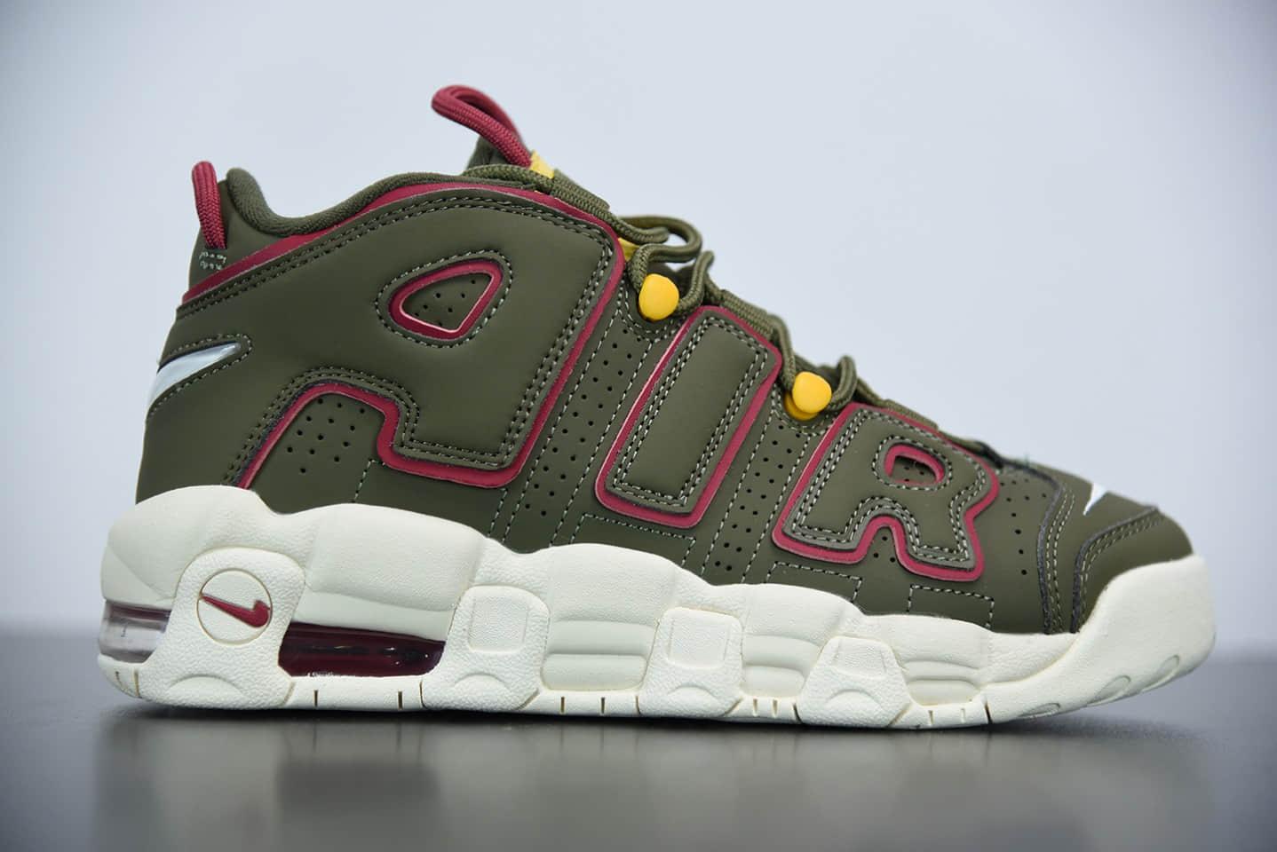 """耐克Nike Air More Uptempo OG""""大AIR""""耐克皮蓬一代卡其色篮球鞋纯原版本 货号:DH0622-300"""
