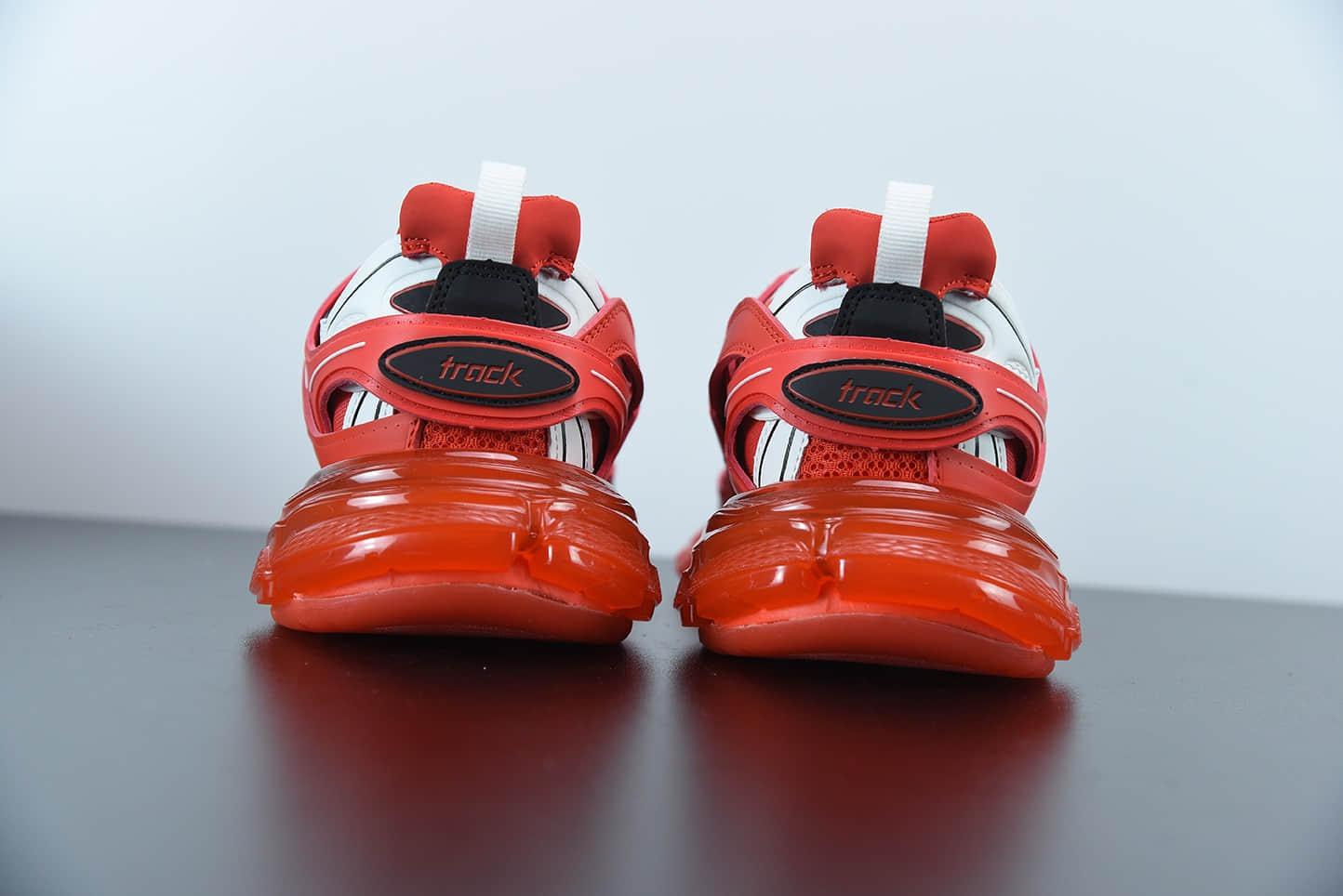 巴黎世家Balenciaga Track Clear Sole低帮网布尼龙运动鞋纯原版本 货号:647742W3BZ16591