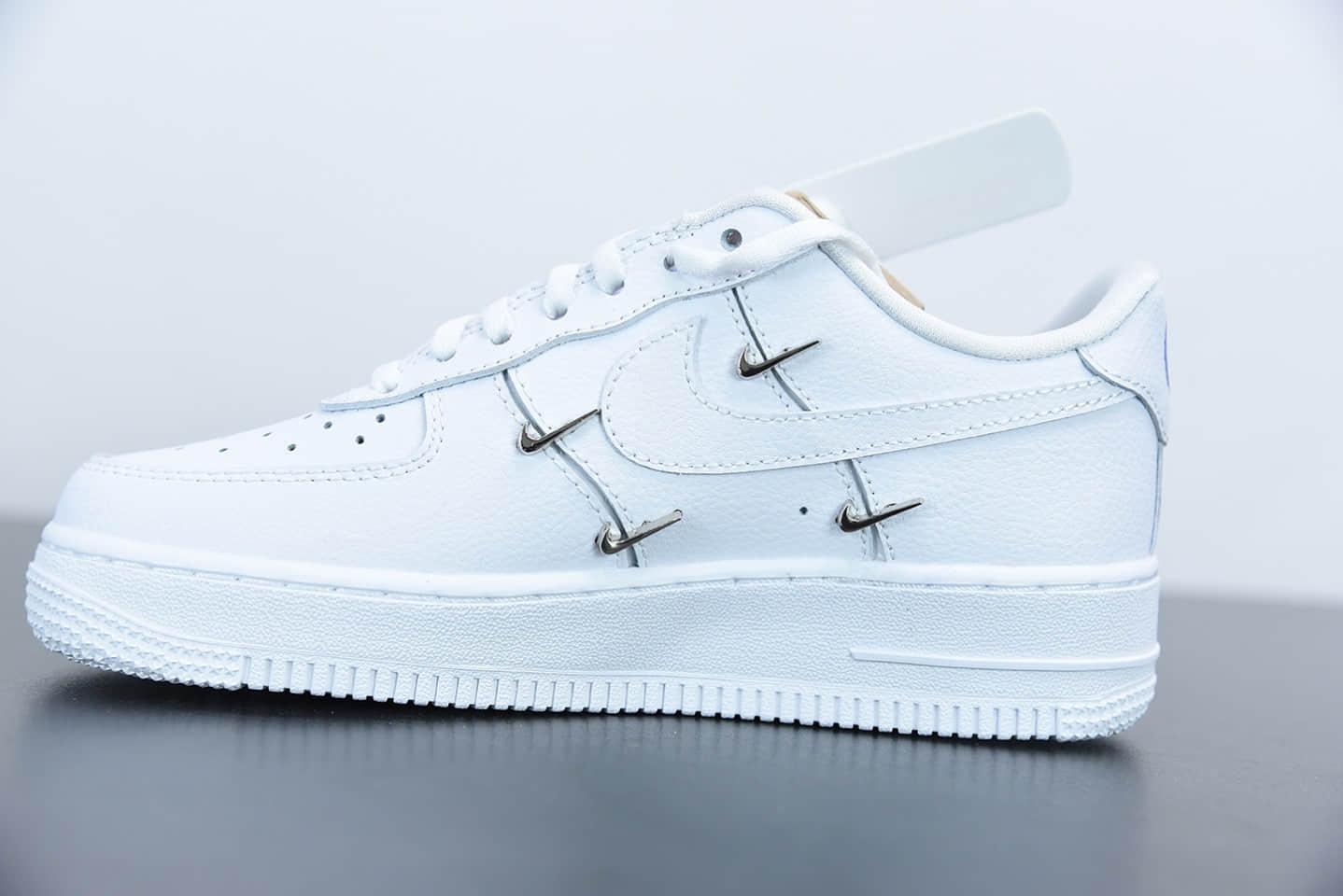 """耐克Air Force 1'07 Low All White 空军一号""""联名小银勾""""低帮休闲板鞋纯原版本 货号:CT1990-100"""