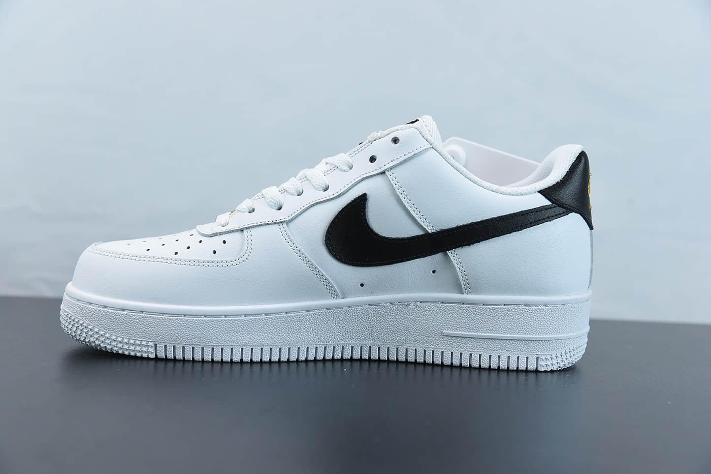 耐克Nike Air Force 1 Low 黑白金配色空军一号低帮休闲板鞋纯原版本 货号:CZ0270-102