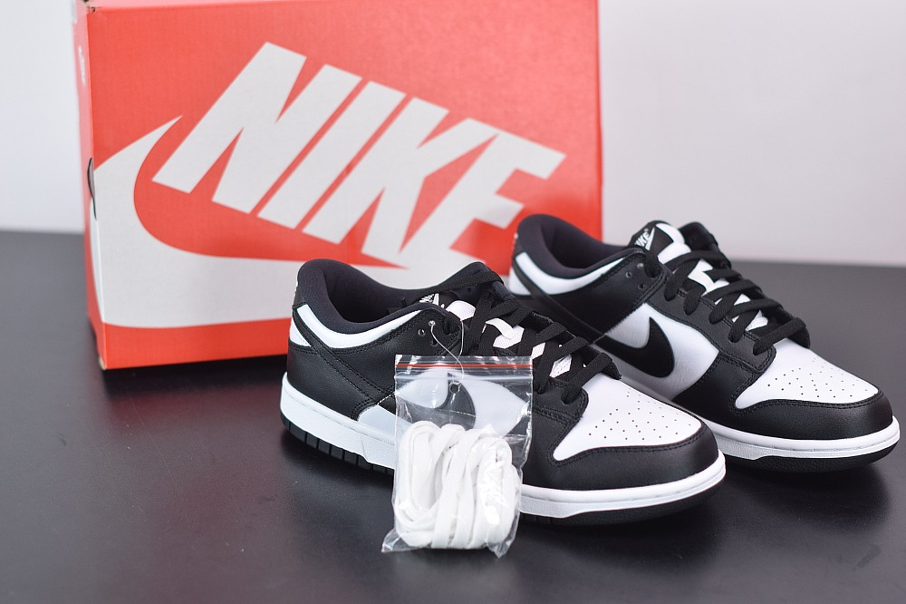 耐克SB Dunk Low Pro 黑白熊猫扣篮系列复古低帮休闲运动滑板板鞋纯原版本 货号:CU1726-001