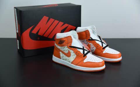 乔丹Air Jordan 1 High supreme Blue Stars橙色星星复古高帮篮球鞋纯原版本 货号:555088-121
