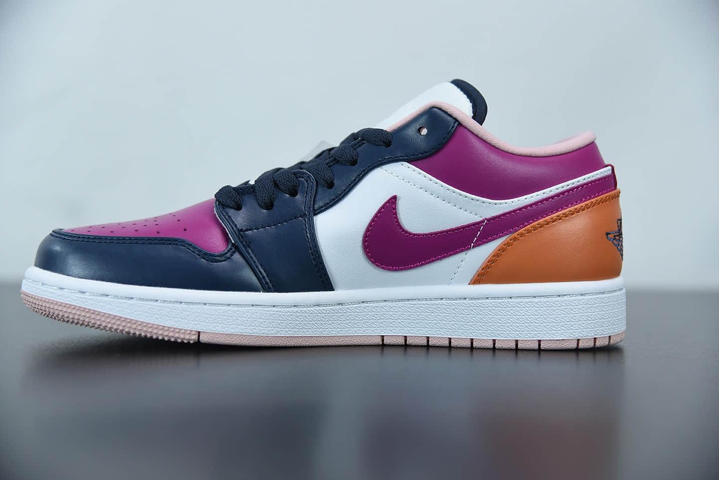 乔丹AIR JORDAN 1 LOW SE AJ1粉紫鸳鸯低帮休闲文化鞋纯原版本 货号:DJ4342-400