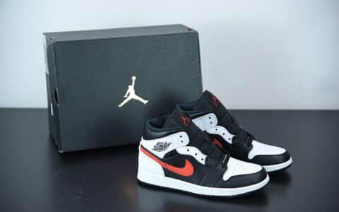 乔丹Air Jordan 1 Mid Astronomy Blue 黑红熊猫中帮文化休闲鞋纯原版本 货号:554724-075