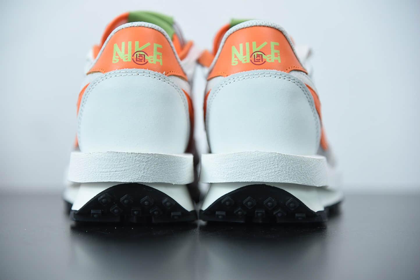 耐克Sacai x Nike LVD Waffle Daybreak网纱浅灰橘酒红联名款解构双勾双标双鞋带厚底休闲跑步鞋纯原版本 货号:DH1347-100