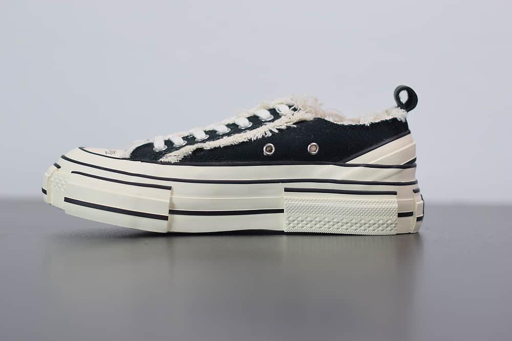Xvessel G.O.P Low Navy低帮黑色吴建豪乞丐鞋纯原版本 货号:S19X001B