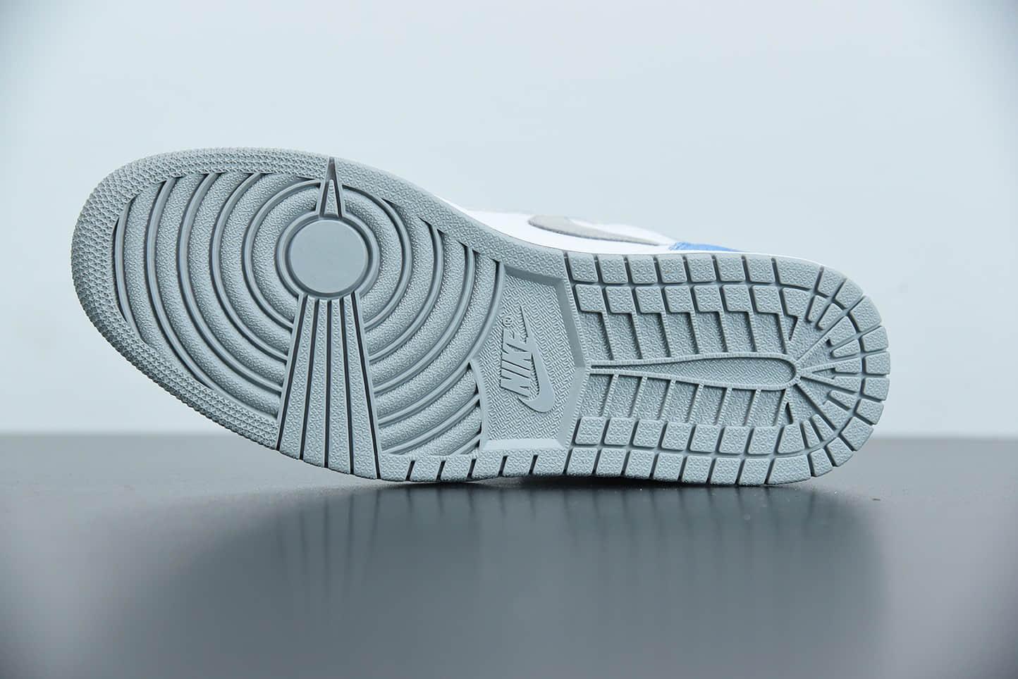 乔丹Air Jordan 1 Hyper Royal水洗北卡蓝高帮篮球鞋纯原版本 货号: 555088-402