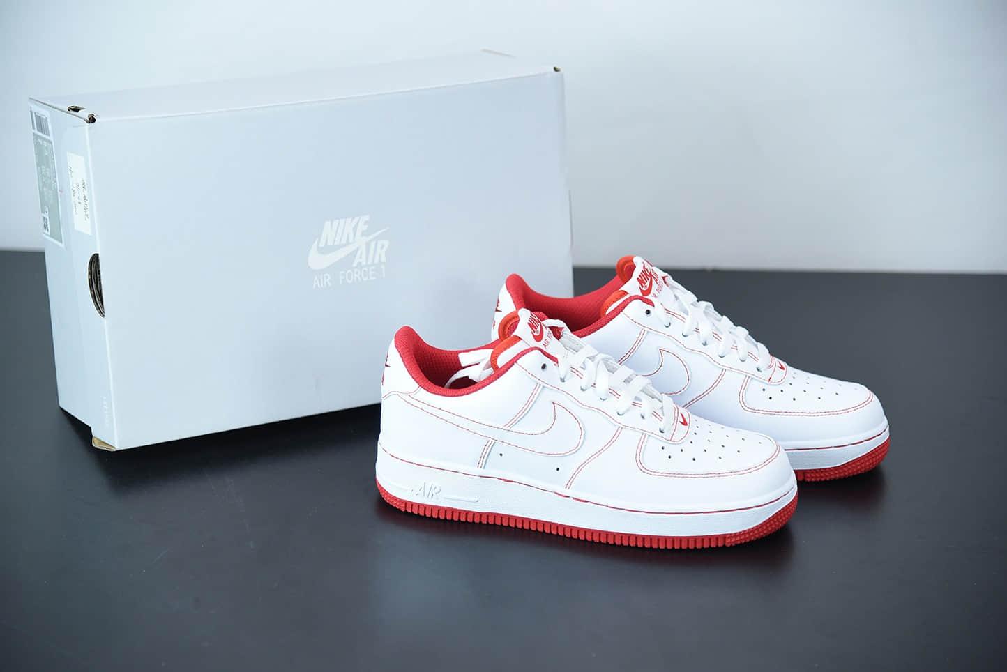 耐克 Nike Air Force 1 Low 白红线条空军一号低帮百搭休闲运动板鞋纯原版本 货号:CV1724-100