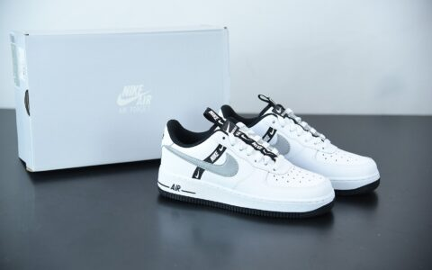 耐克 Nike Air Force1 LOW'07黑白灰串标空军一号低帮百搭休闲运动板鞋纯原版本 货号:CT4683-100
