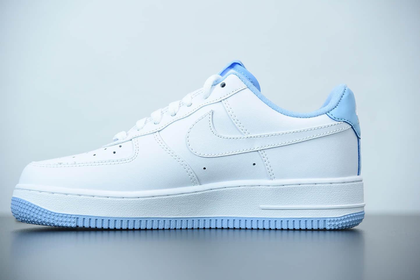 耐克 Nike Air Force 1 White Hydrogen Blue'(GS)白蓝空军一号经典低帮百搭休闲运动板鞋纯原版本 货号:CD6915-103