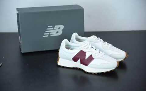 新百伦New Balance MS327系列白灰红复古休闲运动慢跑鞋纯原版本 货号:WS327KA