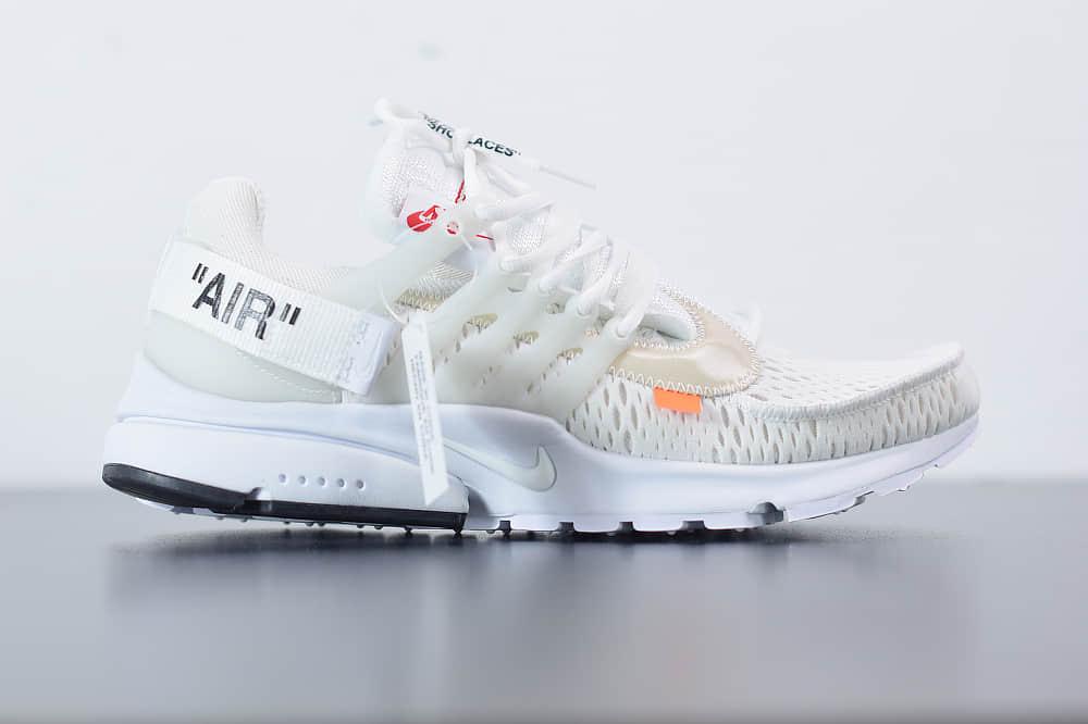 耐克Off-White x Nike Air PrestoOpposites Black 2.0一代耐克王白黑橘休闲运动百搭慢跑鞋纯原版本 货号:AA3830-100