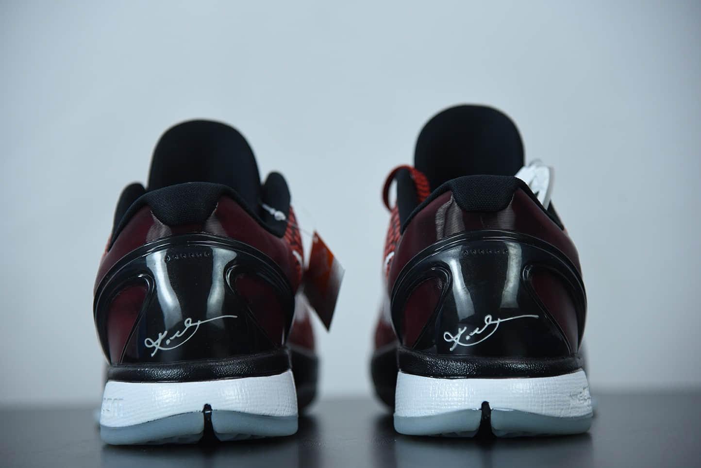 科比Nike Kobe VI Protro 6 红黑白全明星男子实战篮球鞋纯原版本 货号:448693-600