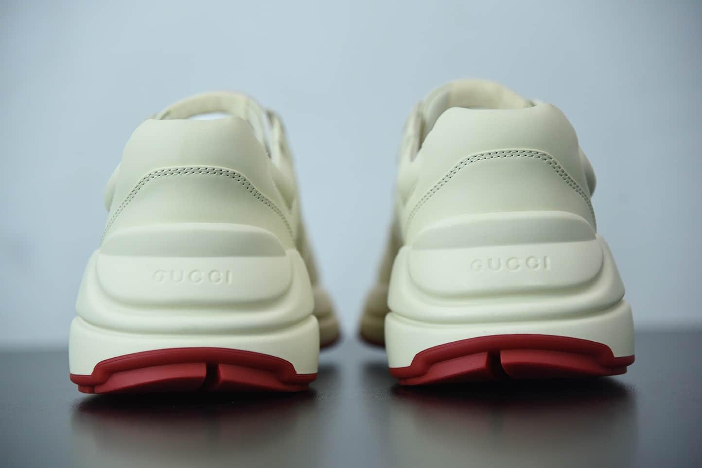 古驰Doraemon×Gucci 叮当猫联名款白色老爹鞋纯原版本 货号:655037DRW009522