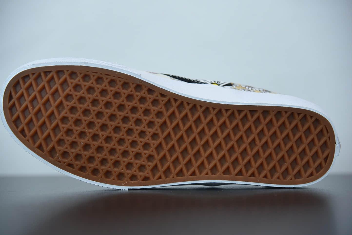 万斯 VansSlip-on 一脚蹬鸳鸯小菊花拼布腰果花低帮硫化休闲板鞋纯原版本 货号:VN0A5AO8420