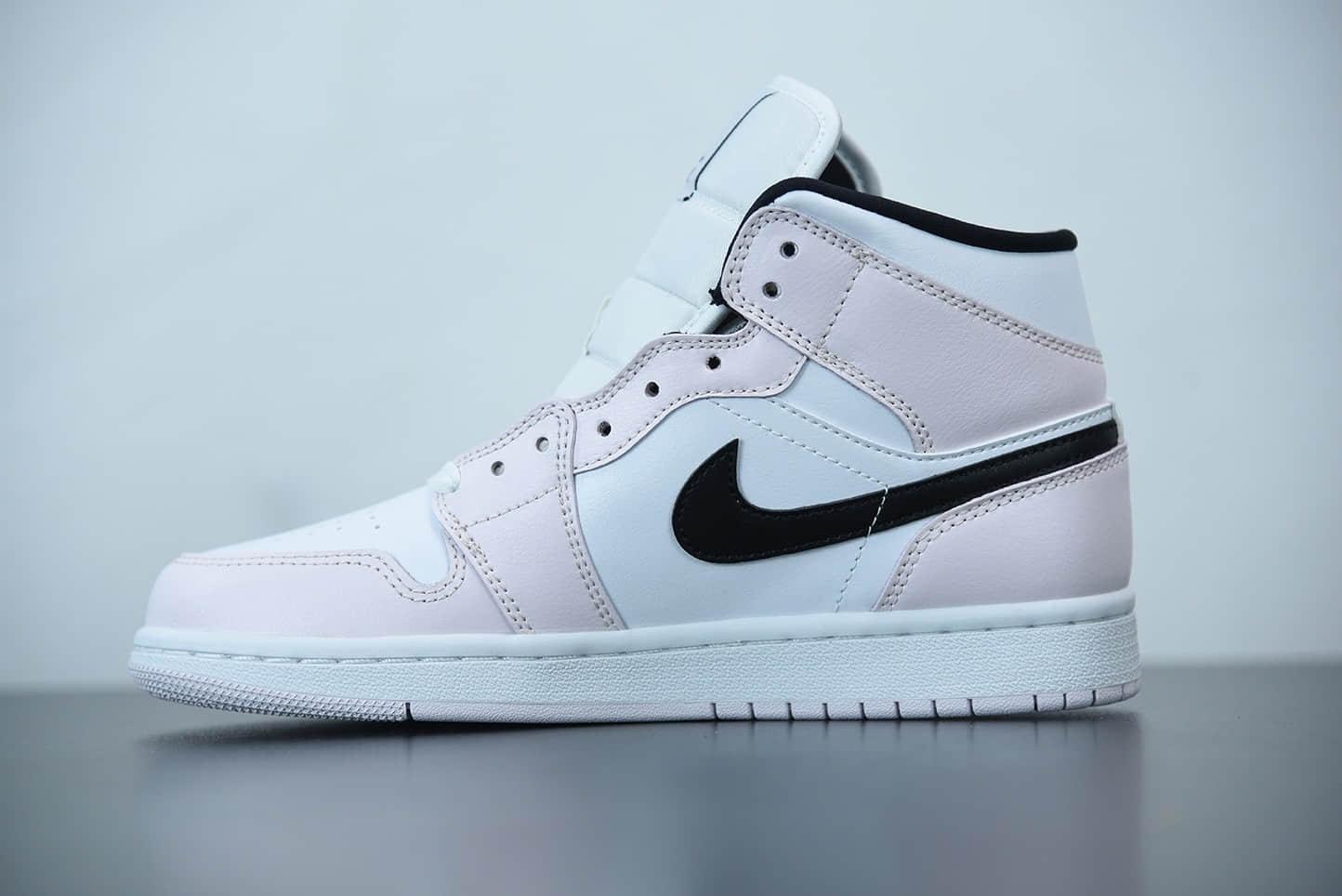 乔丹Air Jordan 1 Mid 玫瑰粉中帮女子文化休闲鞋纯原版本 货号:BQ6472-500
