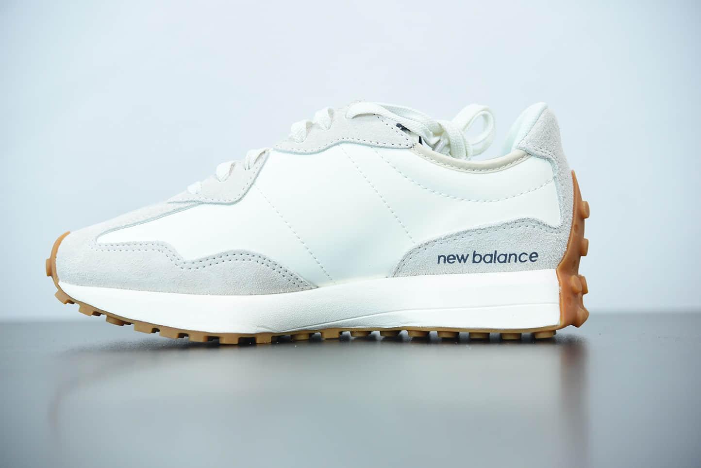 新百伦New Balance327系列灰白深蓝联名款男女运动休闲跑鞋纯原版本 货号:WS327KA