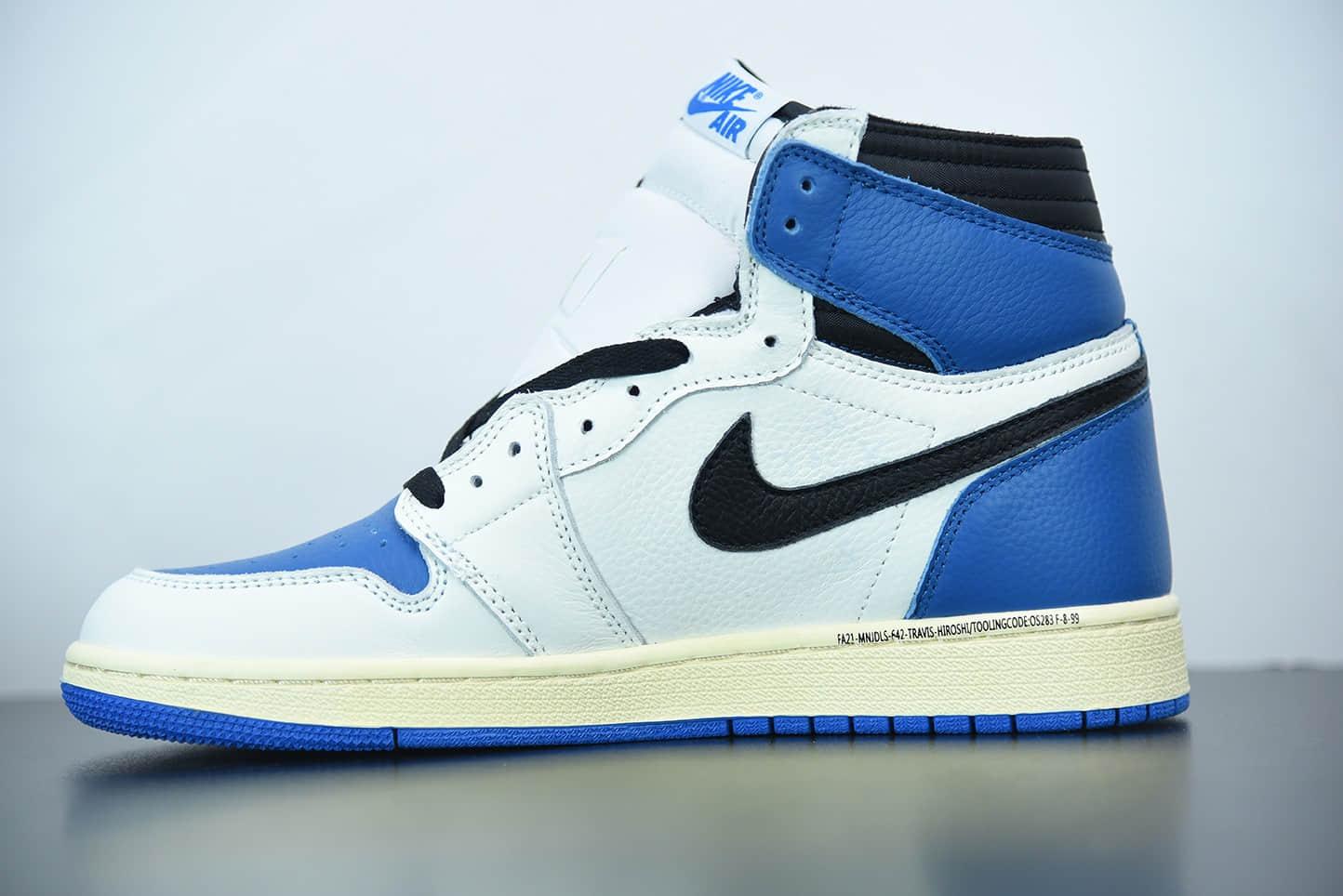 乔丹Travis Scott x Air Jordan 1 High OG 藤原浩三方联名闪电倒勾高帮板鞋纯原版本 货号: DH3227-105