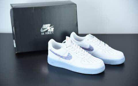 """耐克Nike Air Force 1 """"Hydrogen Blue' 氢蓝配色空军一号低帮板鞋纯原版本 货号:CZ0377-100"""