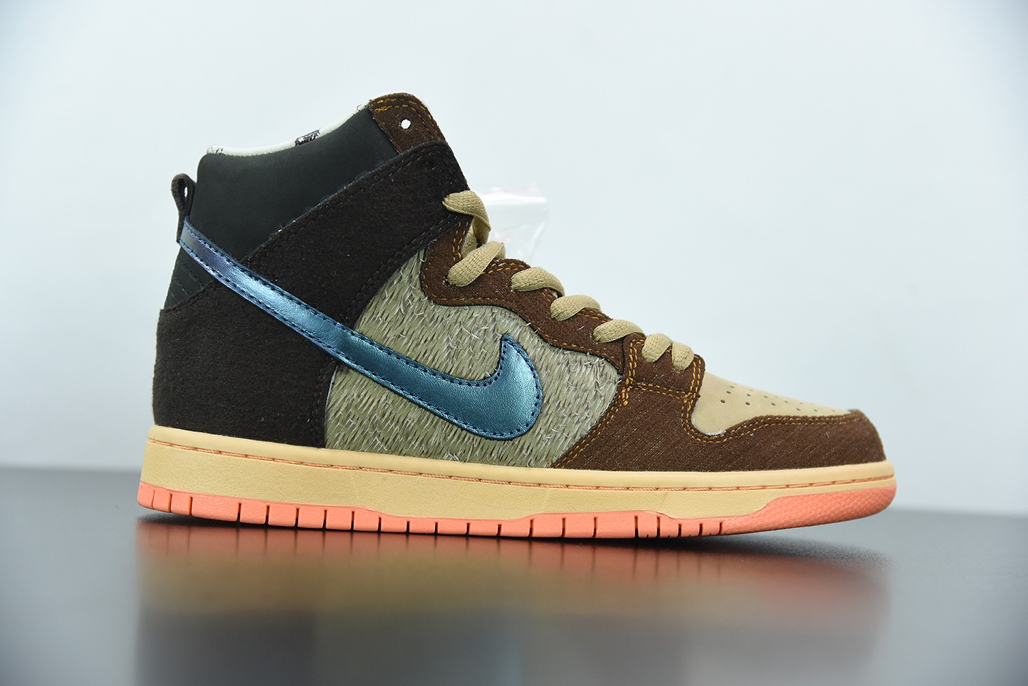 耐克Concepts X Nike SB Dunk High Pro QS Mallard棕绿鸳鸯高帮板鞋纯原版本 货号:DC6887-200
