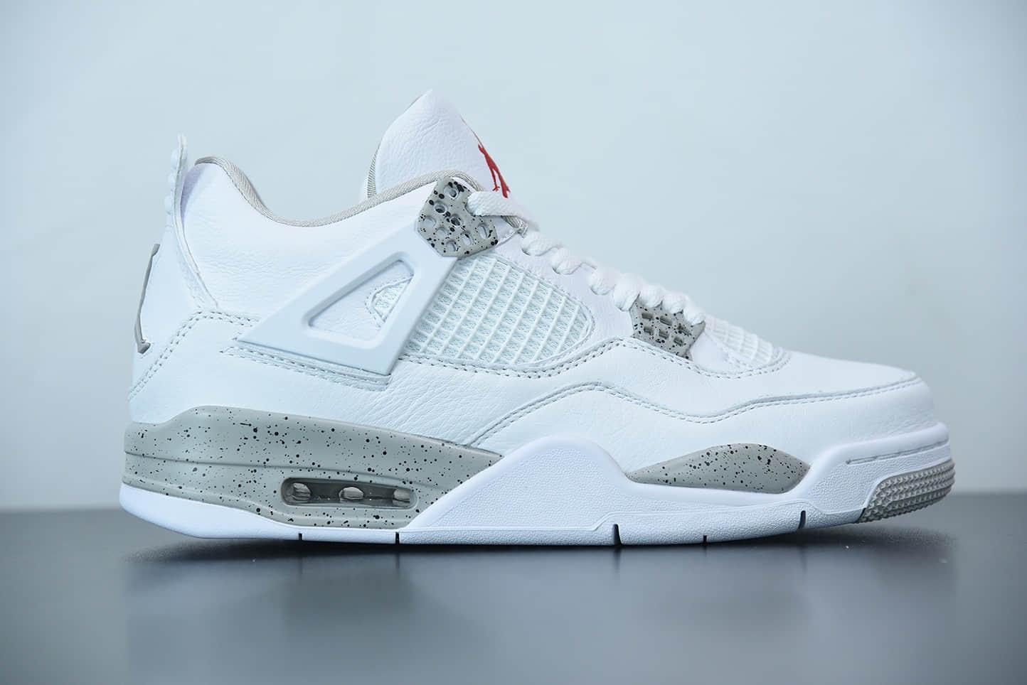 乔丹Air Jordan 4  White Oreo  白奥利奥男子文化篮球鞋 纯原版本 货号: CT8527-100