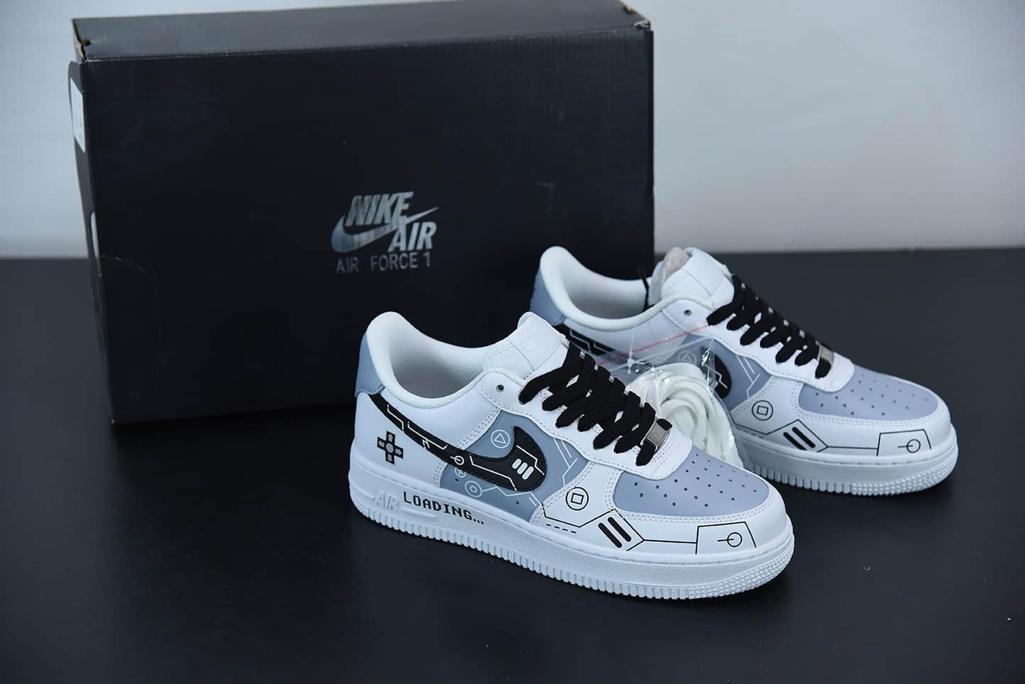 耐克Nike Air Force 1 Low'07 PS5电玩主题黑白灰空军一号低帮休闲板鞋纯原版本 货号:CW2288-111