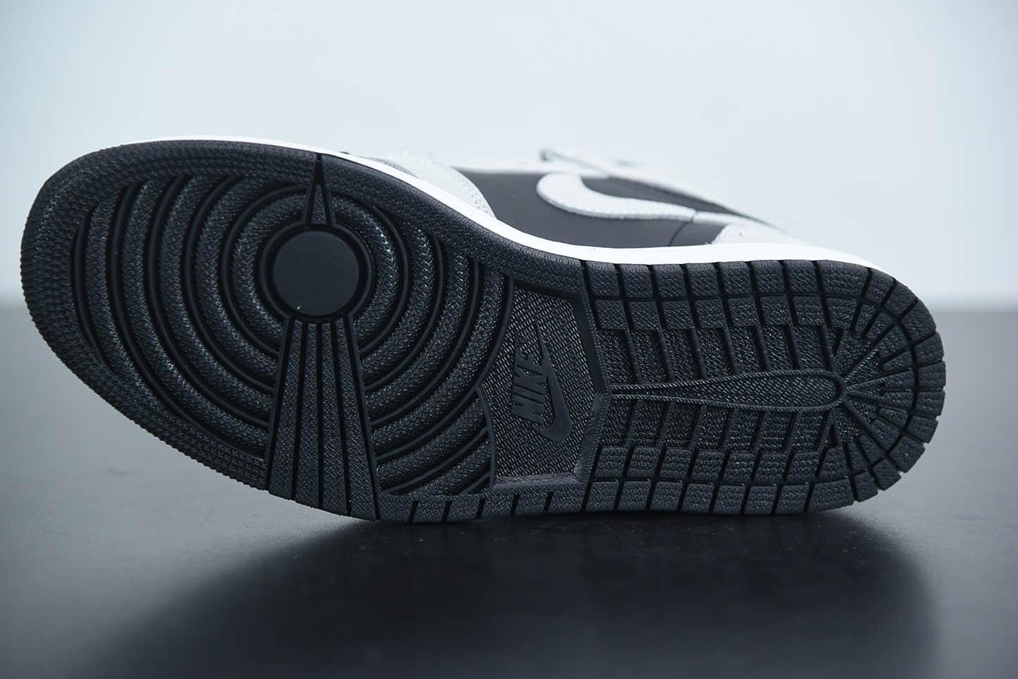 乔丹Air Jordan 1 High AJ1高帮灰白熊猫影子灰2.0中帮篮球鞋纯原版本 货号:555088-035