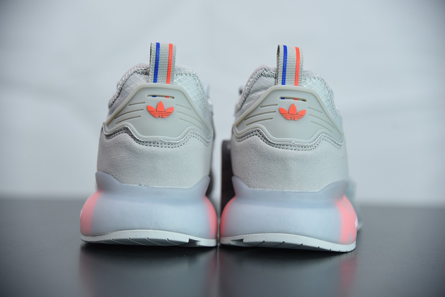 阿迪达斯Adidas Originals ZX 2K Boost易烊千玺同款灰红全新爆米花缓震休闲运动跑鞋纯原版本 货号:FX7028