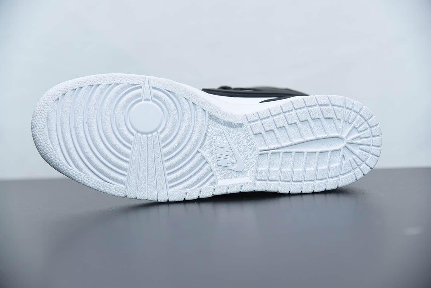 耐克AMBUSH x SB Dunk High 黑白大勾吴亦凡同款高帮滑板鞋纯原版本 货号:CU7544-001