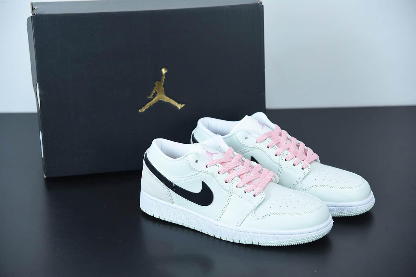 乔丹Air Jordan 1 Low SE Barely Green 蒂芙尼绿樱花粉低帮休闲板鞋纯原版本 货号:CZ0776-300