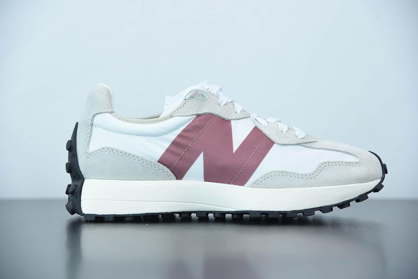 新百伦New balance MS32系列灰白红标复古休闲运动慢跑鞋纯原版本 货号:WS327CD