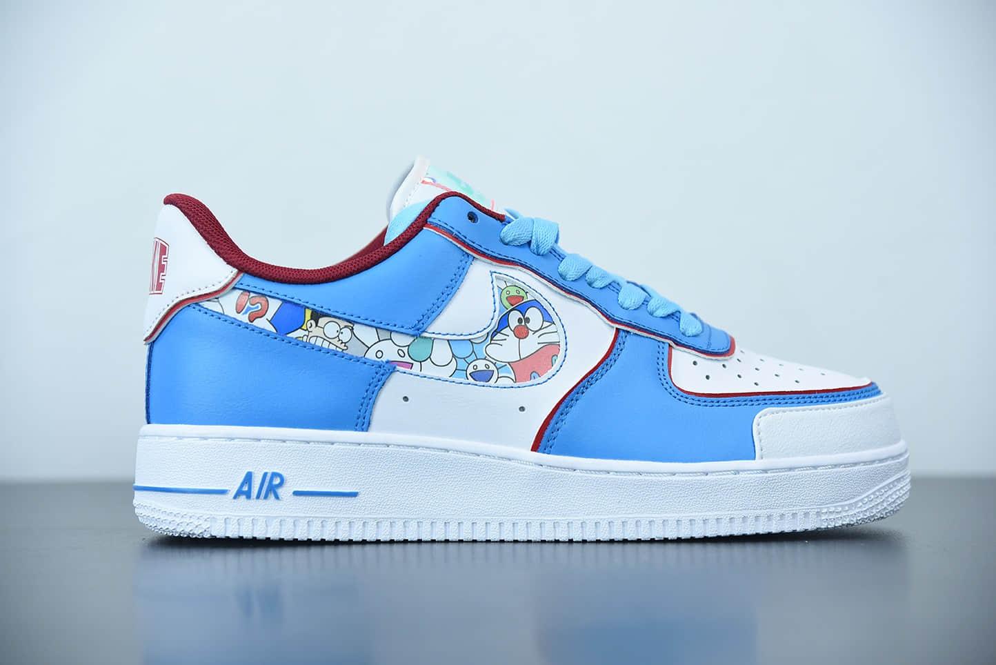 耐克Doraemon x Nike Air Force 1哆啦A梦联名空军一号低帮运动休闲板鞋纯原版本 货号:BQ8988-106