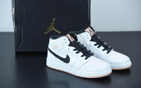 乔丹Air Jordan 1 Mid 白粉色中帮百搭休闲运动板鞋纯原版本 货号:554725-180