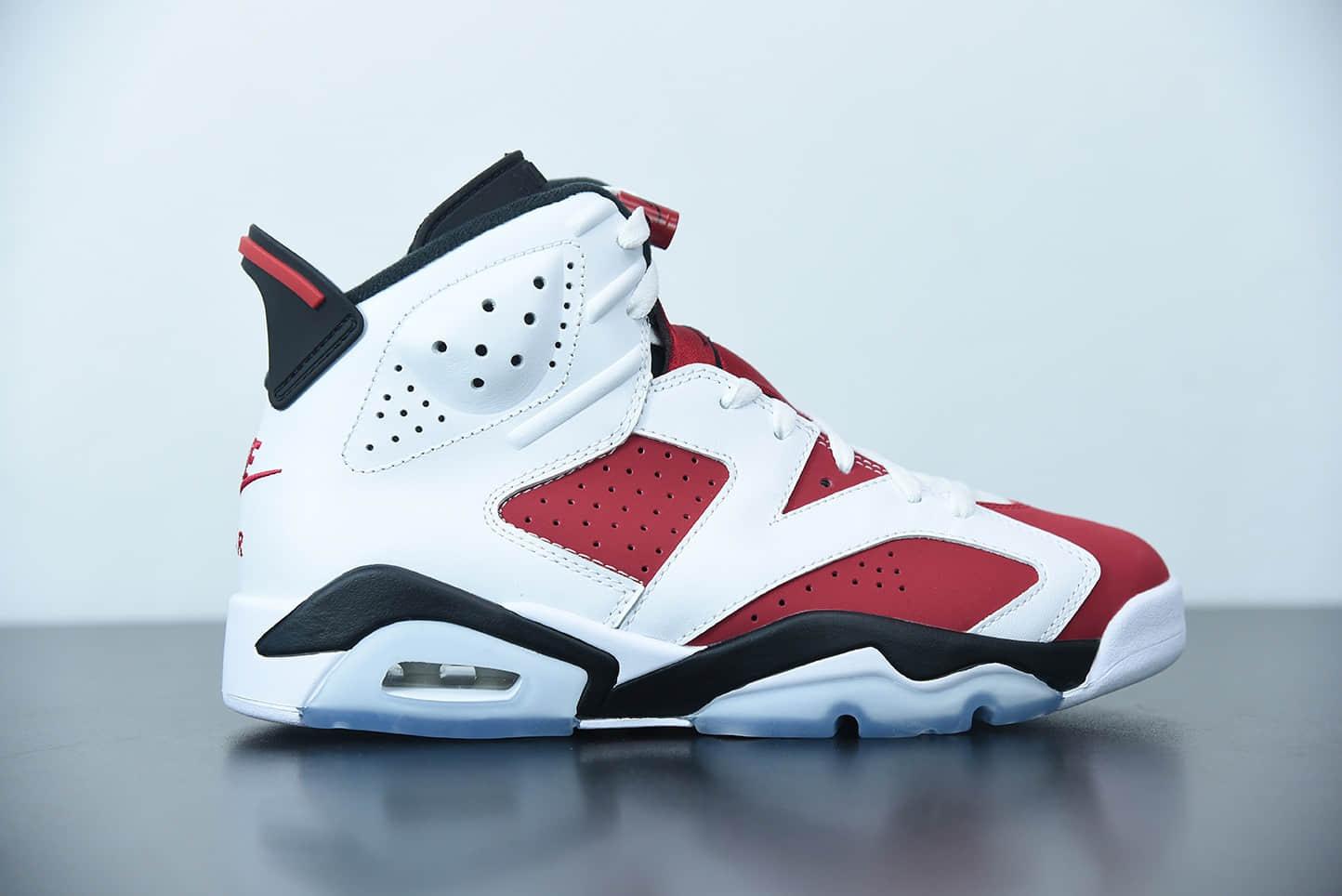 乔丹Air Jordan 6 AJ6 2021年复刻胭脂白红高帮篮球鞋纯原版本 货号:CT8529-106
