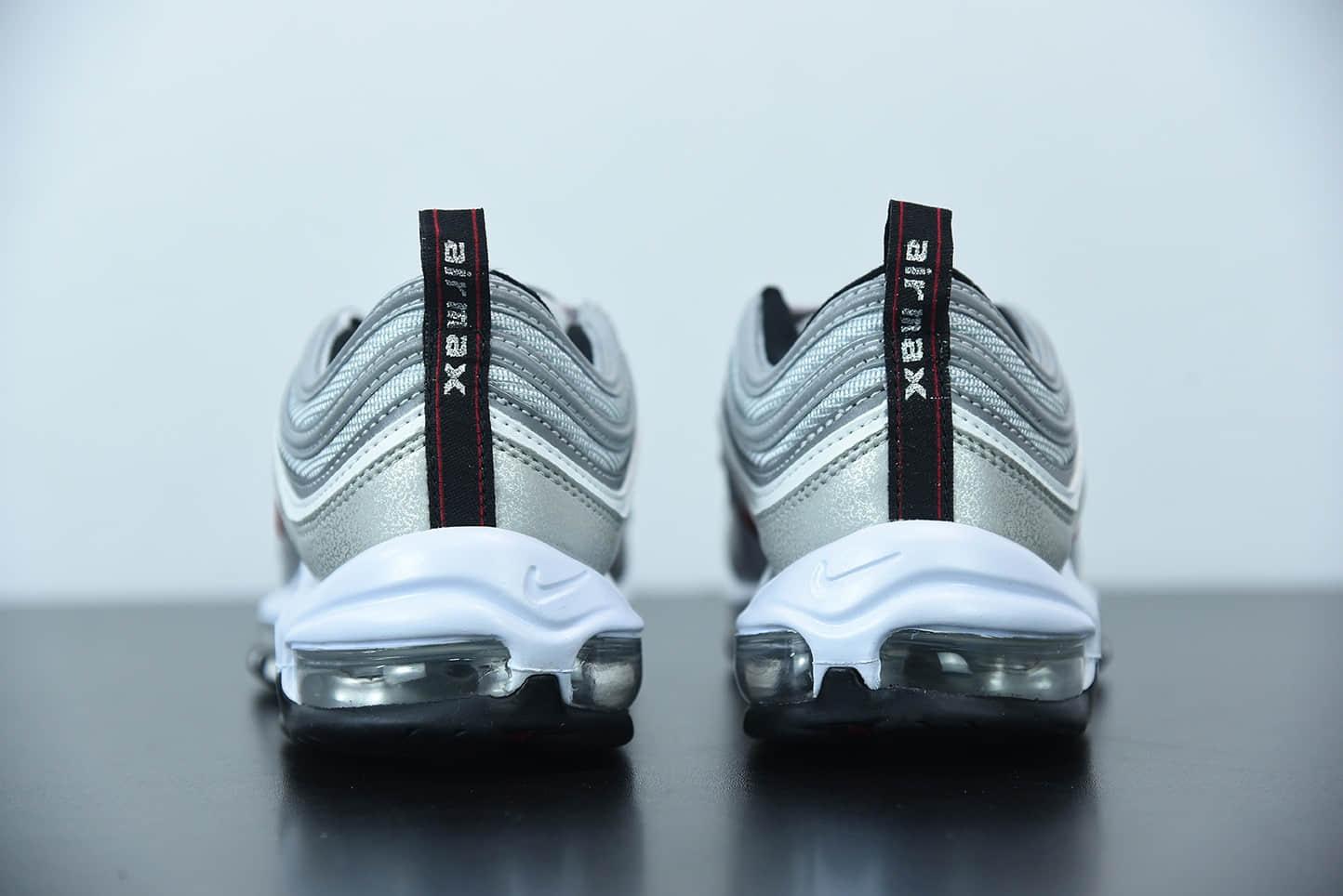 """耐克 Nike Air Max 97 Premium OG QS""""Silver Bullet"""" 2019版""""银子弹反光百搭复古气垫休闲运动慢跑鞋纯原版本 货号:884421-001"""