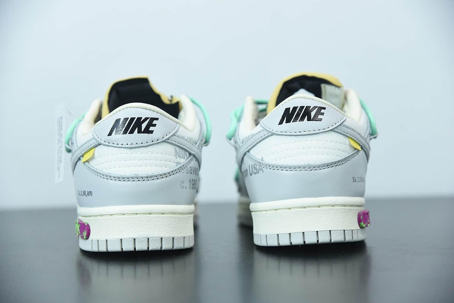 """耐克0ff-White x NIke Dunk Low""""04 of 50"""" OW 白灰色扣篮系列低帮经典百搭休闲运动板鞋纯原版本 货号:DM1602-114"""