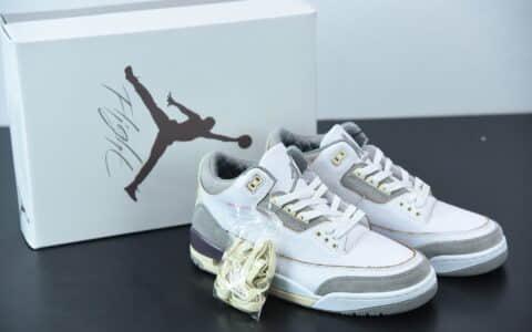 乔丹Air Jordan 3 x A Ma Maniere米白灰做旧氧化限量联名篮球鞋纯原版本 货号:DH3434-110
