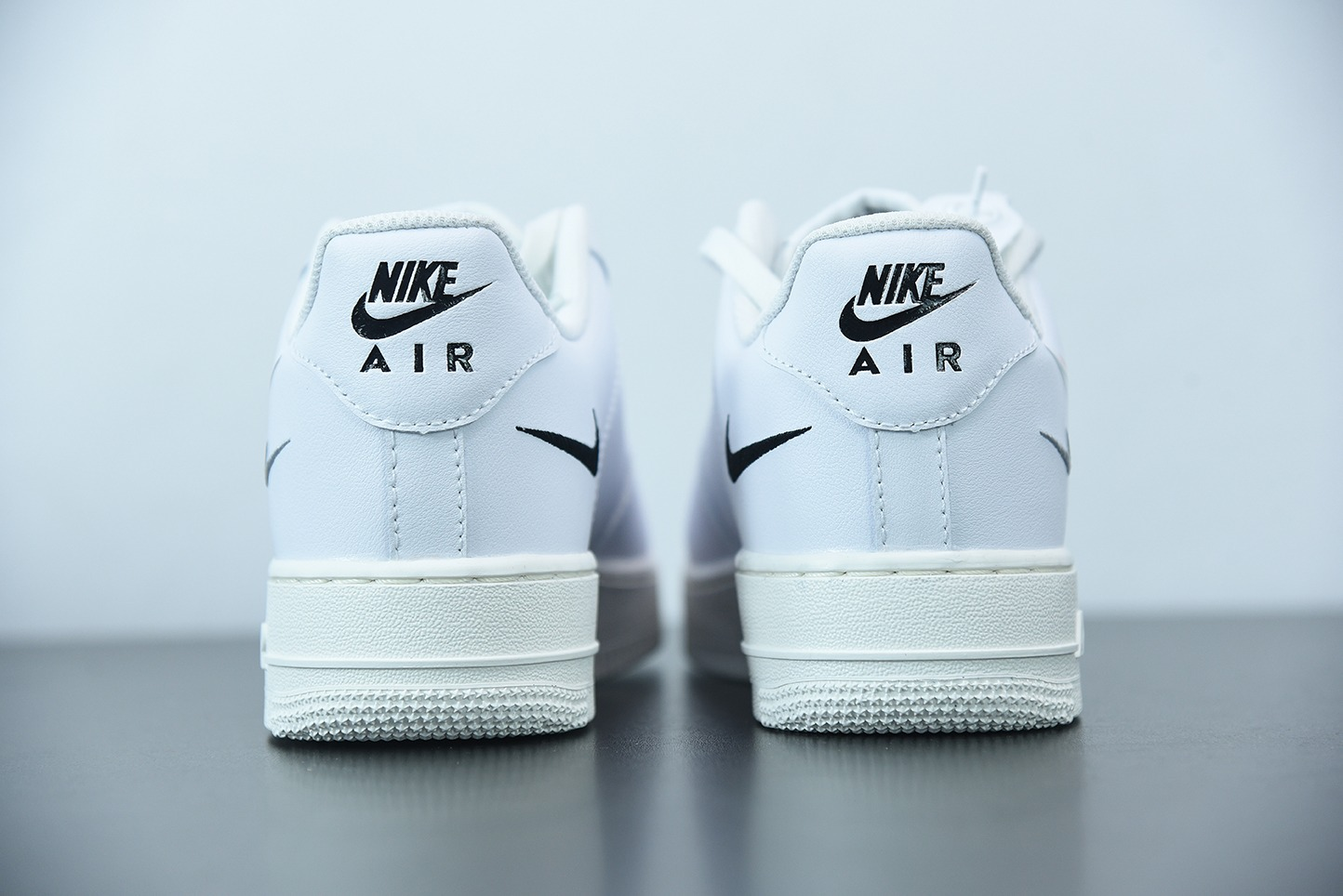 耐克Nike Air Force 1 LowMulti Swoosh白多彩勾全白鞋面空军一号低帮百搭休闲运动板鞋纯原版本 货号:DM9096-100