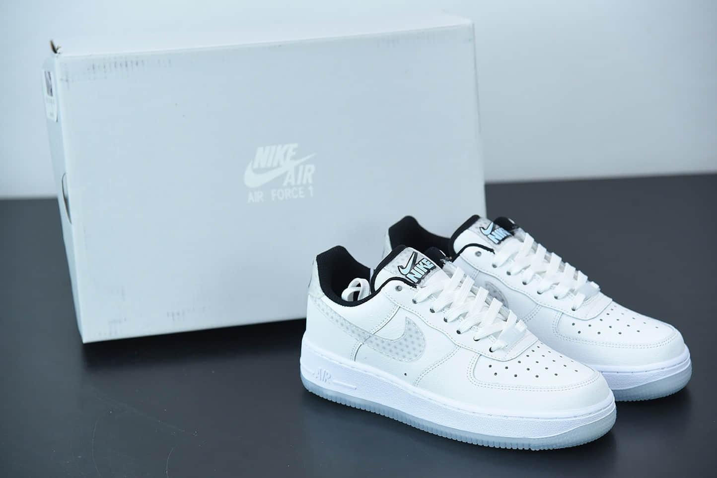 耐克Nike Air Force 1白灰裸眼3D空军一号低帮休闲运动板鞋纯原版本 货号:CW5909-100