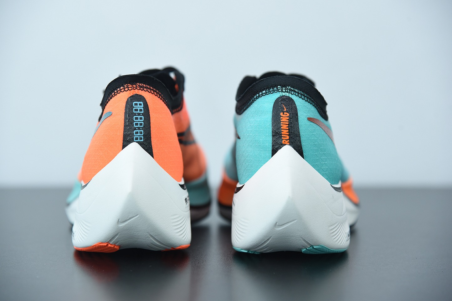 耐克 Nike Zoom X Vaporfly Next% 马拉松蓝橙鸳鸯半透明网纱疾速跑鞋纯原版本 货号:CD4553-300