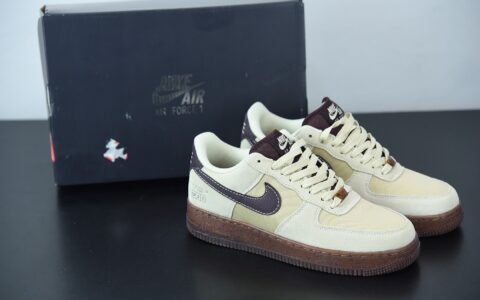 耐克 Nike Air Force 1´07Coffee 咖啡浅棕空军一号经典低帮百搭休闲运动板鞋纯原版本 货号:DD5227-234
