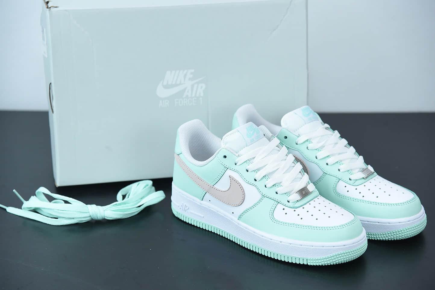 耐克 Nike Air Force 1 '07 蒂芙尼白绿空军一号低帮休闲板鞋纯原版本 货号:AA1726-111