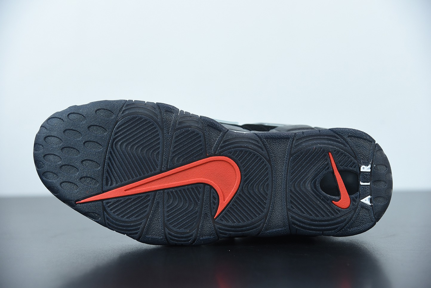 耐克 Nike Air More Uptempo 大AIR皮蓬黑蓝撕纸配色复古篮球鞋纯原版本 货号:DJ4633-010