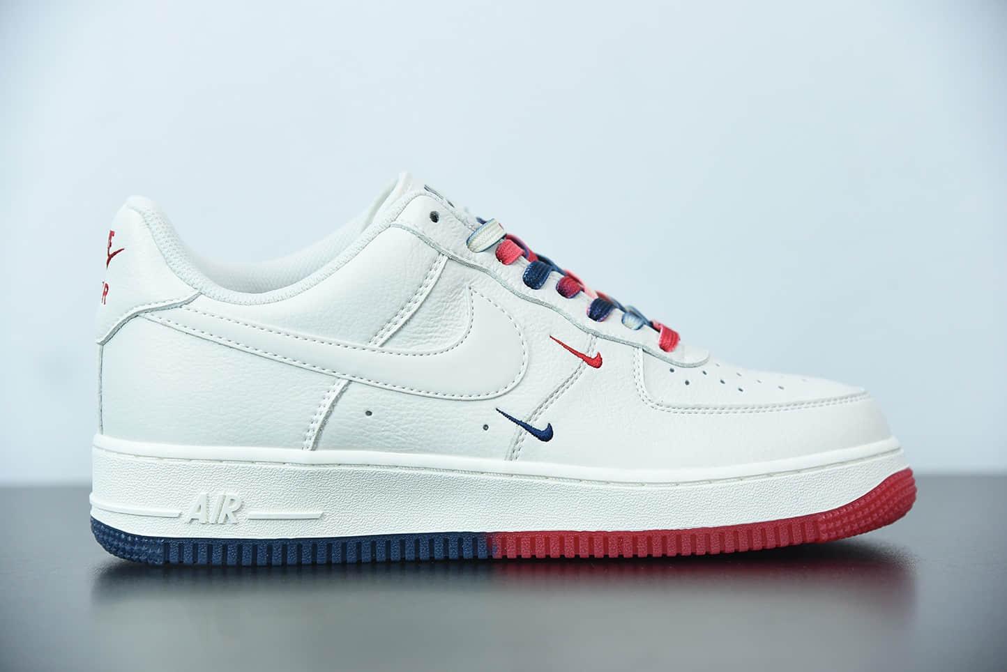 耐克 Nike Air Force 1 Low '07 米红蓝''洛杉矶快船''城市限定低帮空军一号休闲板鞋纯原版本 货号:CT1989-102
