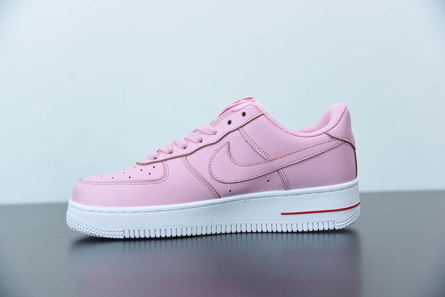 耐克Nike Air Force 1´07PinkRed Rose粉色粉玫瑰空军一号经典低帮百搭休闲运动板鞋纯原版本 货号:CU6312-600