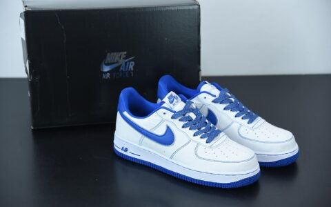 耐克Nike Air Force 1 Low 白蓝缝线帆布3M满天星空军一号低帮百搭休闲运动板鞋纯原版本 货号: CK7213-104