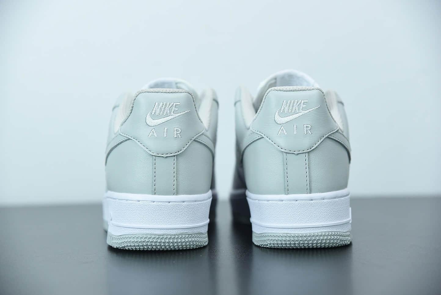 """耐克 Nike Air Force 1 '07 """"Vast Grey""""灰白空军一号低帮休闲板鞋纯原版本 货号:AA1726-201"""